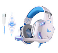 KOTION EACH G2200 USB 7.1 Surround Sound Vibration Game Gaming Headphone Computer Headset with Microphone LED Light