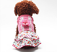 Sweety Flower Printing Pet Dress
