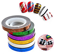 1 Nail Art Sticker Adesivi 3D unghie Astratto makeup Cosmetic Nail Art Design