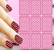 1pcs  Nail Art Hollow Stickers New Design Stripe Round Interesting Geomestric Shape  Nail Art Beauty  L111-120