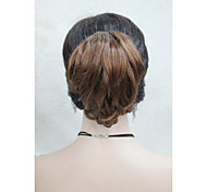 "Fun Short Wavy Claw 7"" Ponytail Medium Auburn Clip in Hairpiece"