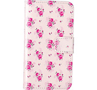Rose Flower Pattern Embossed PU Leather Case for iPod Touch5