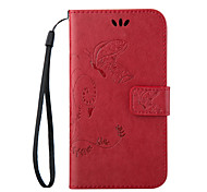 Embossed Butterfly Purse Style with Lanyard Phones for LG G3 G3Mini G4 G4Mini L70 L90 LS770