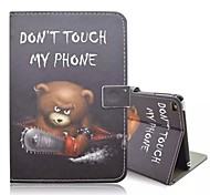 Special Design Novelty Animal Fur Pattern PU Leather Folio Case Holster for iPad mini  4