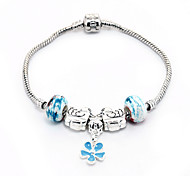 Women With Blue Beads DIY Jewelry Fashion Brecelet