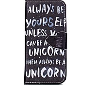 Be Yourself Painted PU Phone Case for iphone SE