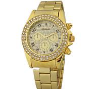 Masculino Relógio de Pulso Quartz Lega Banda Dourada marca-