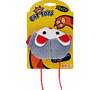 Cat Pet Toys Catnip / Plush Toy Cartoon / Mouse Gray / Orange Plastic