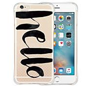 hallo Zukunft weichen transparenten Silikon Tasche für iPhone 6 / 6S (verschiedene Farben)