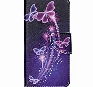 Kreuzmuster Leder-Mappenkasten für Acer Liquid Jade z - lebendige Schmetterlinge