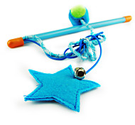 Cat Pet Toys Teaser Star Blue Plastic