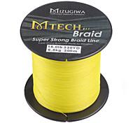 300M / 330 Yards PE Braided Line / Dyneema / Superline yellow shad 15LB 0.20mm ForSea Fishing / Bait Casting