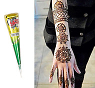 a base di erbe coni henné naturale body kit arte mehandi inchiostro Jagua tatuaggio temporaneo (marrone)