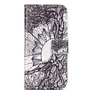Teste padrão da árvore de vida capa de couro pu com slot para cartão e ficar para iPhone 6 6s / iphone