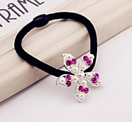 Flower girl hair ring shape crystal pearls
