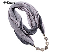 D Exceed Multicolor Desigual Polyester Winter Scarf Natural Stone Pendant Necklaces Scarf For Women Jewelry Scarves