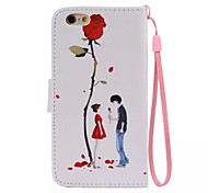 Rose Day Pattern PU Leather Material Phone Case for iPhone 6/iPhone 6S