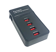 tragbare 4-Port-USB-Ladestation Dock für Apple iphone ipad& Tablette& Samsung& Handy mit USA-Stromkabel