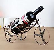 o projeto do triciclo folha de bordo de vinho rack de ferro puro do vintage