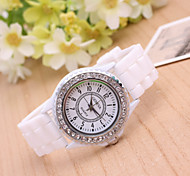 Women's Fashion Watch Geneva Fashion Silicone Diamond Quartz Watch(Assorted Colors) Cool Watches Unique Watches