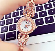Femme Montre Tendance Quartz Alliage Bande Bracelet Montre / bracelet Or Rose