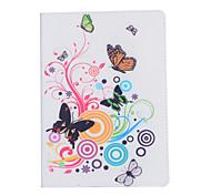 juego de dobles de la mariposa alrededor de las flores funda abierta para ipad aéreo3 / ipad 7