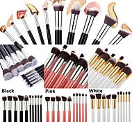 10 Stk. Make-up Pinsel im Set - für Augenbrauen, Lippen und Augen Make-up