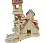 3D Puzzles Solid Wood Puzzle The Riverbank Cabin House Model