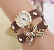 Femme Montre Tendance Quartz PU Bande Bracelet Montre / bracelet Bayadère