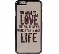 amor IML chapa inferior pc vida con el caso trasero para iPhone6 / 6s