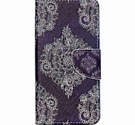For Acer Case Card Holder / with Stand / Flip / Pattern Case Full Body Case Lace Printing Hard PU Leather for Acer