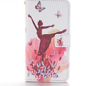 Ballet Girl Design Full Body Cases PU Leather Case for Samsung Galaxy S3 S3 Mini S4 S4 Mini S5 S5 Mini S6