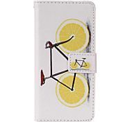Orange Bike Pattern PU Leather Full Body Case with Stand and Card Slot for iPhone 6/6S