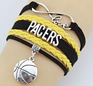 Alloy / Leather Bracelet Wrap Bracelets Party / Daily / Casual 1pc