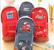 Bolsas de Papelaria-Vermelho / Azul- dePele PU / Téxtil-Fofinho / Negócio / Multifuncional