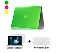 "New  Matte Plastic Full Body Case +TPU Keyboard Cover+ Screen Protector for Macbook Air 11"",Retina 13""/15"""