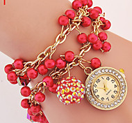 Ladies' Watch New Ladies Pearl Bracelet Watch Shambhala Ball Pendant Winding Watch