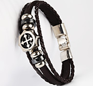 Screw CapShape PU Men's Bracelet