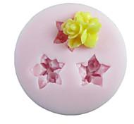 Три отверстия Цветок силиконовые формы Фондант Пресс-формы Сахар Craft Инструменты Смола цветы Плесень пресс-формы для тортов
