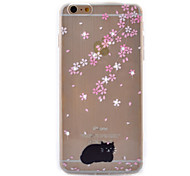 Black Cat Coloured Drawing Slim TPU Material Phone Case for iPhone 6/6S