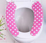 2pcs bagno lavabile caldo appiccicoso tappetino WC pad coprisedile autoadesiva