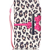 For Huawei Case Wallet / Card Holder / with Stand / Flip Case Full Body Case Leopard Print Hard PU Leather Huawei Huawei Y600
