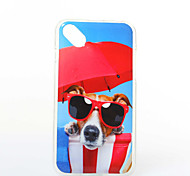 Glasses Dog Pattern TPU+IMD Soft Case for Wiko Sunset2