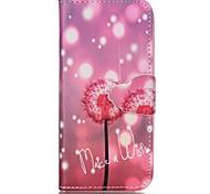 Finger Fluorescent Dandelion Painted PU Phone Case for iphone5SE