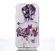 Ultra-Thin 0.1cm TPU Graphic Back Cover for Samsung Galaxy J1/J5/J7/J1 Ace
