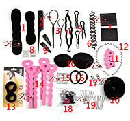 20 Types/set Magic Hair Style Tools DIY Hair Twister Bun Comb Pins Clips Hari Rings Sponge Roller Maker Styler Curler