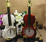 Colorful Desktop Plastic Clock Needle Alarm Clock Violin clock Mini Quartz(Random Color)