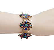 Bohemian Four Bowknot Bead Alloy  Resin Bracelet