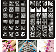 1pcs New Stamping 20Styles Nail Art Templates Fashion Lace Flower DIY Stencil Stamp Plates Polish Image Painting Tools