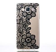 Blumenmuster schwarz Druck transparent TPU Material Telefonkasten für Samsung-Galaxie a5